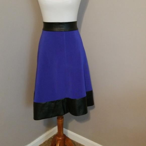 708cfaecc5 Ashley Stewart Dresses   Skirts - Ashley Stewart blue shirt w  leather trim  size 16